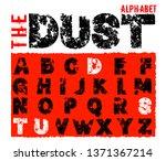 grunge dust letters. unique off ... | Shutterstock .eps vector #1371367214