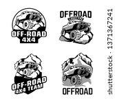 off road logo set. off roading... | Shutterstock .eps vector #1371367241