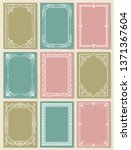 decorative frames collection of ... | Shutterstock . vector #1371367604