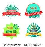 special summer offer promo... | Shutterstock . vector #1371370397
