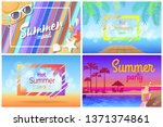 summer landscape or beach... | Shutterstock . vector #1371374861