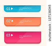 set of bookmarks  stickers ... | Shutterstock .eps vector #137138345