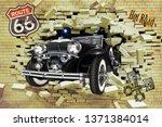 3d wallpaper design with a... | Shutterstock . vector #1371384014