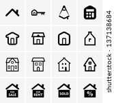 real estate icons | Shutterstock .eps vector #137138684