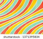 watercolor salmon pink  yellow... | Shutterstock . vector #1371395834