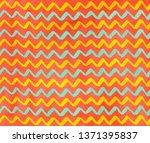 watercolor salmon pink  yellow... | Shutterstock . vector #1371395837