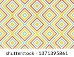 watercolor geometrical pattern... | Shutterstock . vector #1371395861