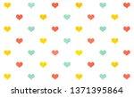 watercolor salmon pink  yellow... | Shutterstock . vector #1371395864