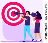 business concept vector... | Shutterstock .eps vector #1371409541