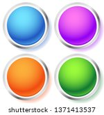 empty circle  orb icons.... | Shutterstock .eps vector #1371413537