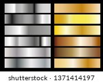 silver and gold foil texture... | Shutterstock .eps vector #1371414197