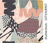 seamless vector paper cut... | Shutterstock .eps vector #1371418907
