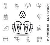 two glasses of beer  shamrock...