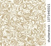 Stock photo seamless ornate baroque pattern 1371440321