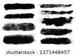 brush strokes. vector... | Shutterstock .eps vector #1371448457