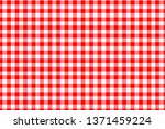 red gingham seamless pattern.... | Shutterstock .eps vector #1371459224
