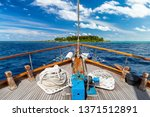 luxury sailing boat yacht in... | Shutterstock . vector #1371512891