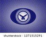 crossed pistols icon inside... | Shutterstock .eps vector #1371515291