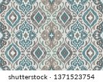 Gray   Blue Seamless Damask...