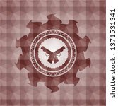 crossed pistols icon inside red ... | Shutterstock .eps vector #1371531341