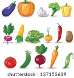 cartoon vegetables | Shutterstock .eps vector #137153639