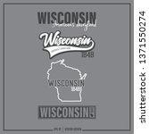 wisconsin  wisconsin state... | Shutterstock .eps vector #1371550274