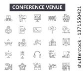 conference venue line icons ... | Shutterstock .eps vector #1371550421