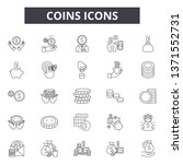 coins line icons  signs set ... | Shutterstock .eps vector #1371552731