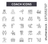 coach system line icons  signs... | Shutterstock .eps vector #1371552737