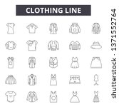 clothing line line icons  signs ... | Shutterstock .eps vector #1371552764