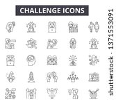 challenge line icons  signs set ... | Shutterstock .eps vector #1371553091