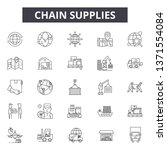 chain supplies line icons ... | Shutterstock .eps vector #1371554084