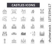 castles line icons  signs set ... | Shutterstock .eps vector #1371554117