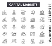 capital markets line icons ... | Shutterstock .eps vector #1371554594