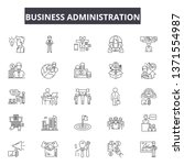 business administration line... | Shutterstock .eps vector #1371554987