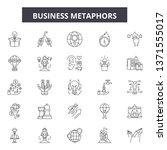 business metaphors line icons ... | Shutterstock .eps vector #1371555017