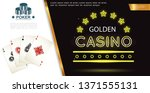 realistic poker colorful... | Shutterstock .eps vector #1371555131