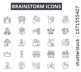 brainstorm line icons  signs... | Shutterstock .eps vector #1371555407