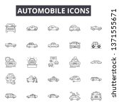 automobile line icons  signs... | Shutterstock .eps vector #1371555671