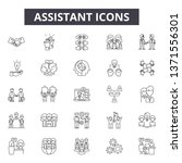 assistant line icons  signs set ... | Shutterstock .eps vector #1371556301
