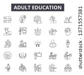 adult education line icons ... | Shutterstock .eps vector #1371557381