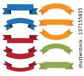 set of  old ribbon banner  ... | Shutterstock .eps vector #137155835