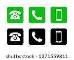 phone icon vector. call icon... | Shutterstock .eps vector #1371559811