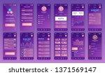 set of ui  ux  gui screens...