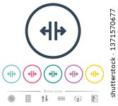 vertical split tool flat color... | Shutterstock .eps vector #1371570677