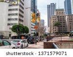 los angeles downtown street...   Shutterstock . vector #1371579071