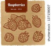 vector illustration of ripe... | Shutterstock .eps vector #137158007
