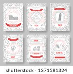 italy vector brochure cards... | Shutterstock .eps vector #1371581324