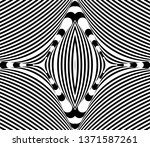 seamless pattern with hypnotic... | Shutterstock .eps vector #1371587261