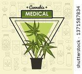 cannabis medical concept | Shutterstock .eps vector #1371587834